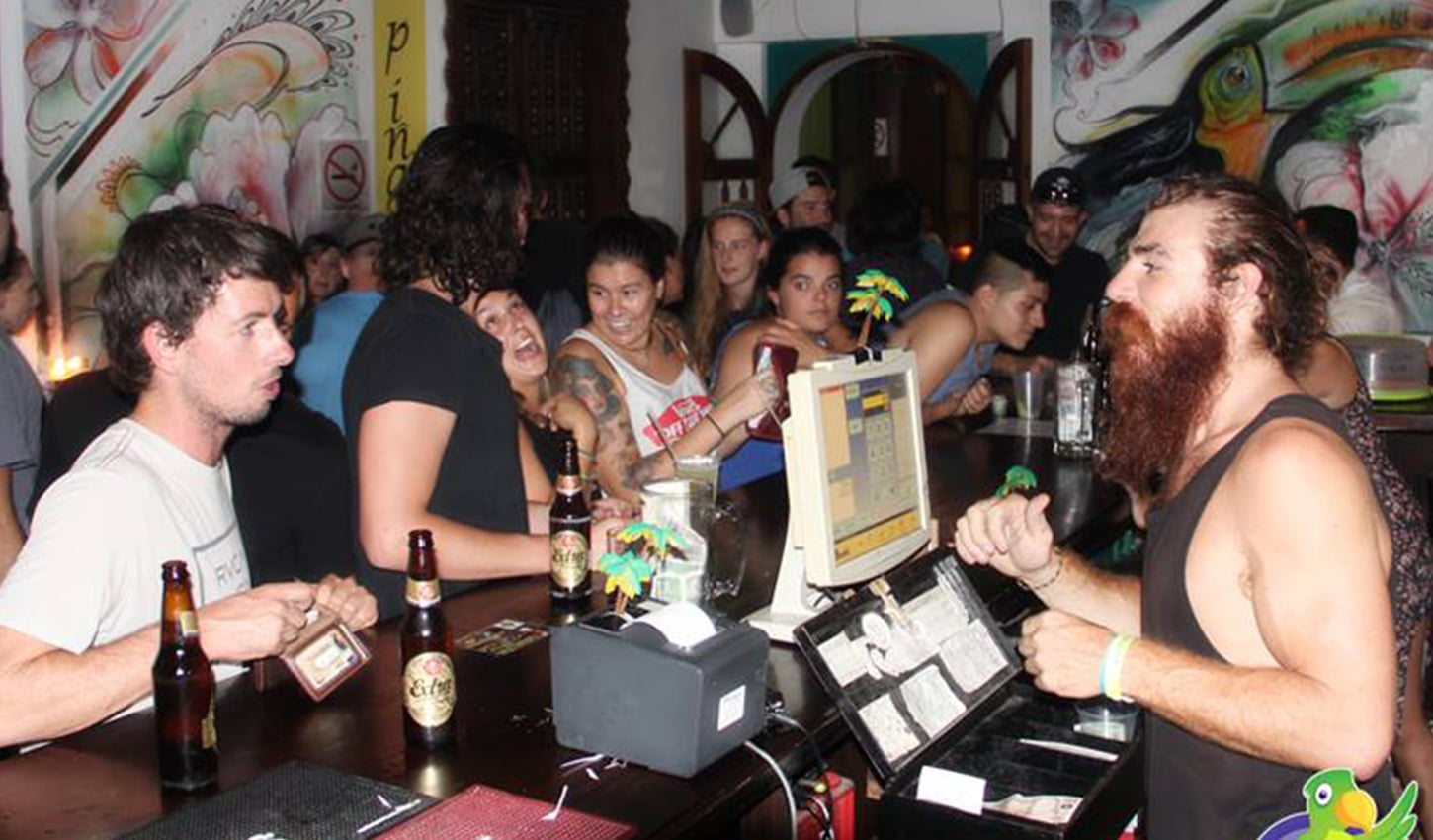 Our Bar at Tropicana Hostel